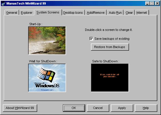 Winwizard A System Tweaker Program For Windows 98